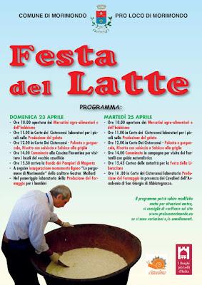 Festa del Latte 23-24-25 aprile Morimondo (MI)