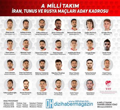 Spor, Spor Haberleri, Türkiye, A Milli Takım, Milli Takım Kadrosu, Türkiye Milli Takım Kadrosu,