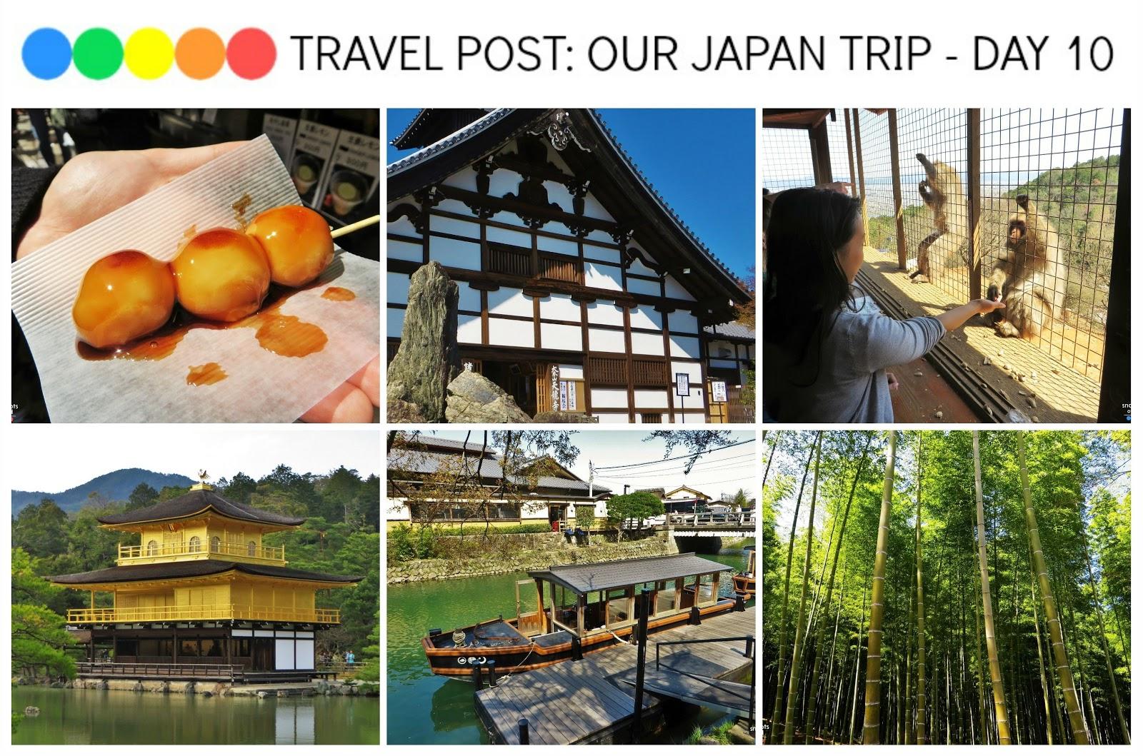 Exploring Kyoto - Tenryu-ji Temple, Arashiyama Bamboo Grove and Monkey Park, Kinkaku-ji