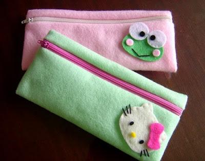 dompet dari kain flanel
