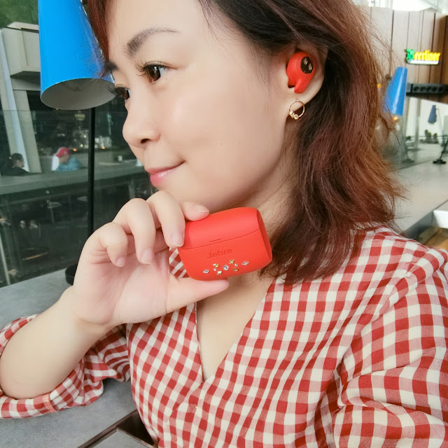 jabra elite eactive 65t earbud headphone swarovski