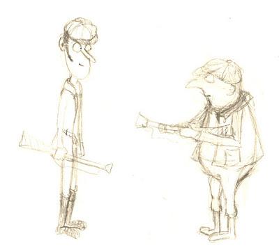 illustration chasseur character design recherche de personnages