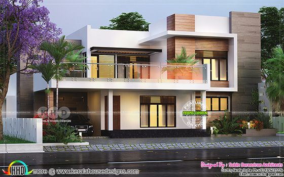 3 bedroom 2650 square feet modern flat roof house