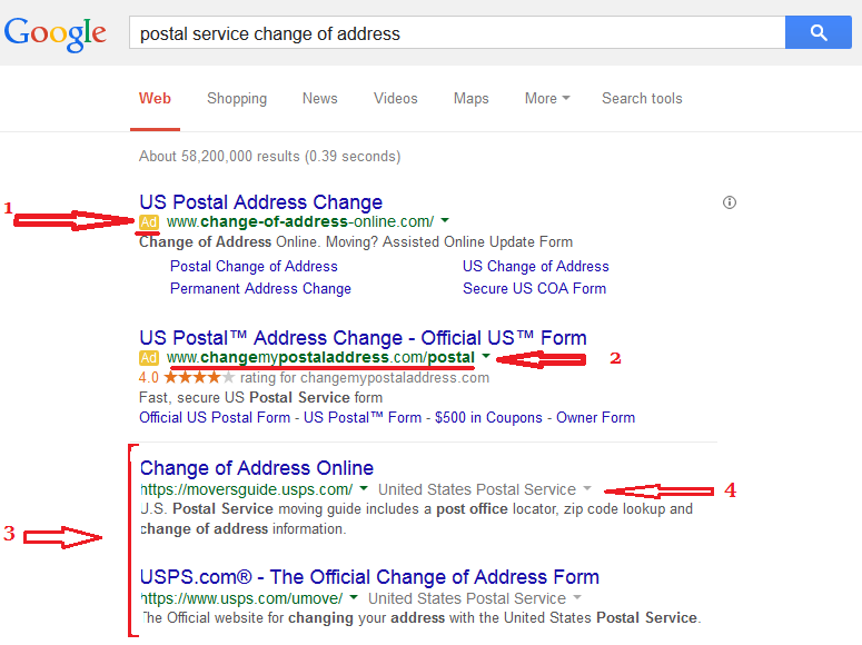 Postal Change Of Address Change Of Address Tips And Information