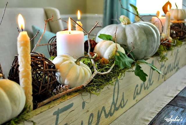 fall centerpieces for dining room table | Sophia's: Fall in the Dining Room... 5 Easy Fall Centerpieces