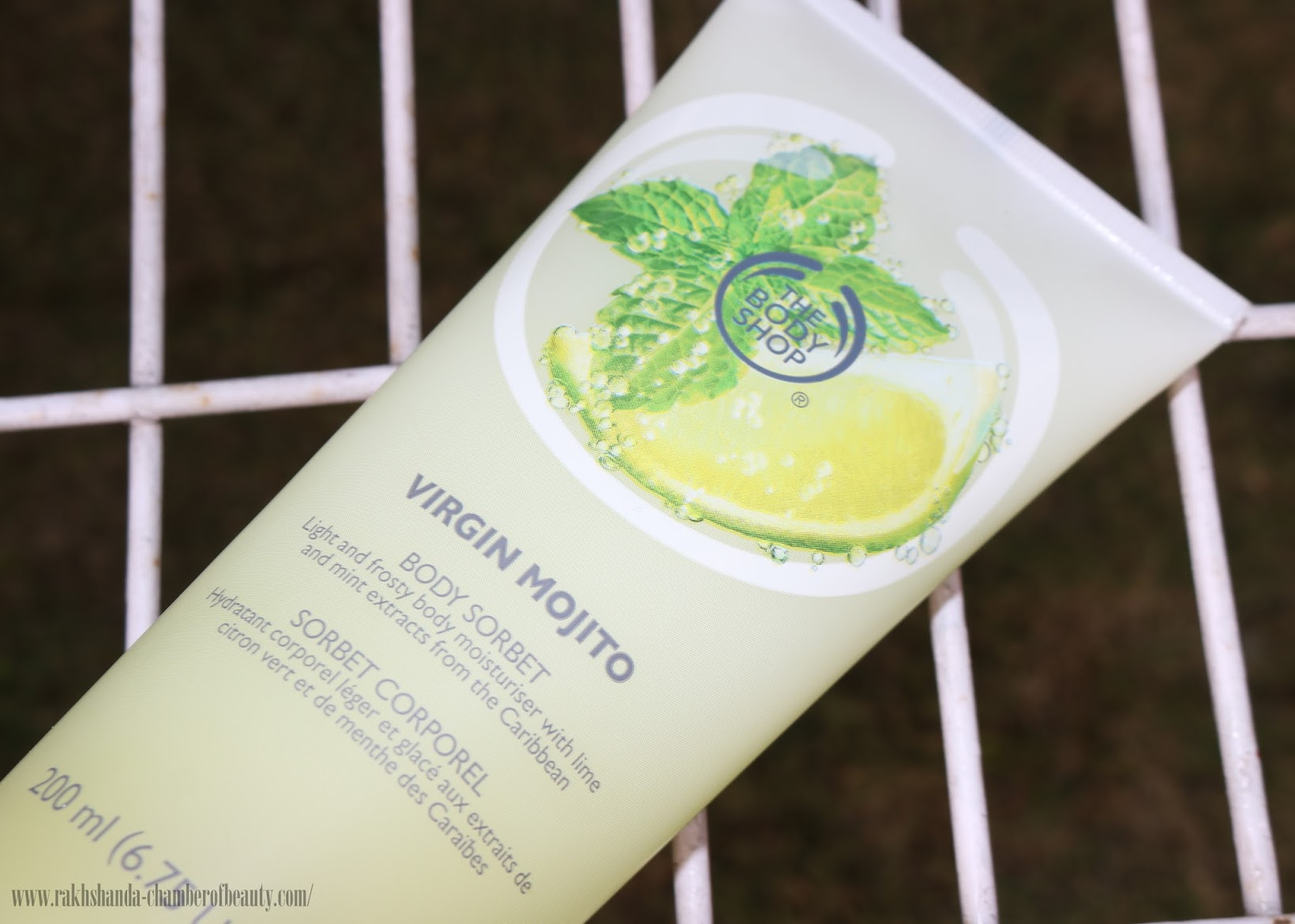 The Body Shop Virgin Mojito range in India,The Body Shop Virgin Mojito Body Sorbet-review, price in India, Indian beauty blogger, Chamber of Beauty
