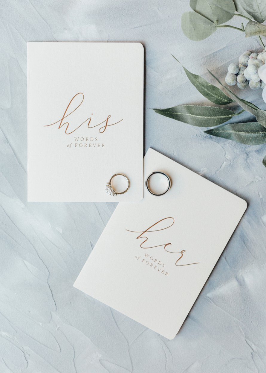 Wedding Vow Books by Something Minted Photography