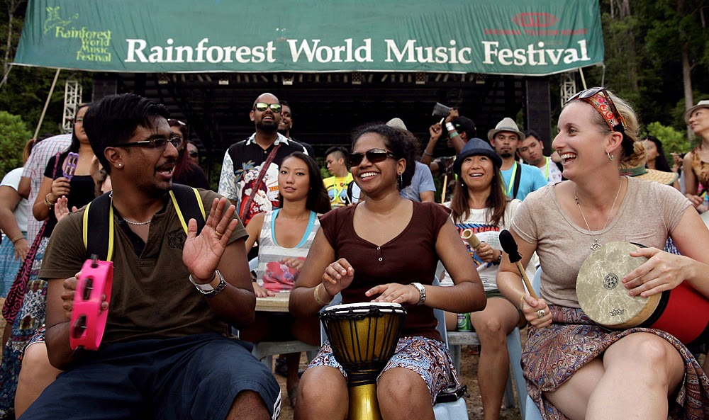 Workshop at the Rainforest World Music Festival