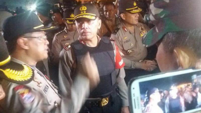 Kapolda Metro Irjen M Iriawan saat pengamanan demo 4 November
