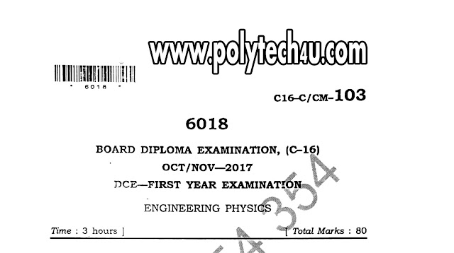 ENGINEERING PHYSICS C-16 OLD QUESTION PAPERS