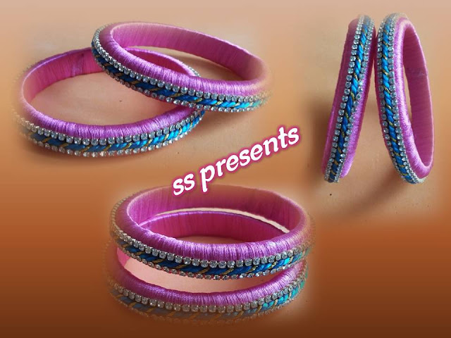 Here is how to make fancy thread bangles making,how to make stone bangles in home,handmade ribbon bangles,making bangles jewelry,how to make bangles with paper,Images for quilling thread bangles,silk thread bangles images,How to make silk thread or fancy thread bangles making at home