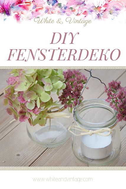 DIY-Anleitung herbstliche Fensterdekoration aus Marmeladengläsern