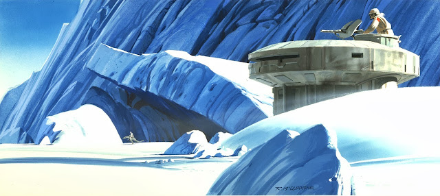 empire strikes back hoth rebel base art