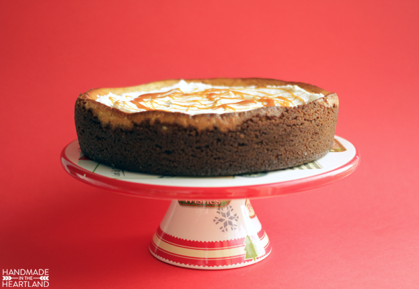 Recipe for Eggnog Cheesecake with Gingersnap Crust