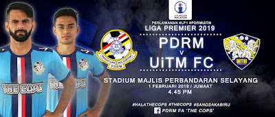 Live Streaming PDRM vs Uitm Liga Perdana 1.2.2019