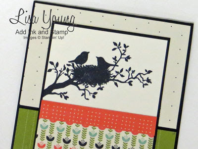 Stampin' Up! World of Dreams stamp set and Pretty Petals paper. Handmade Anniversary card by Lisa Young, Add Ink and Stamp