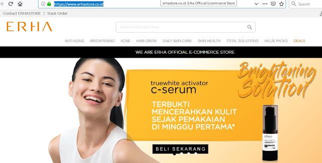 Erhastore tempat membeli produk Erha seperti serum pemutih wajah