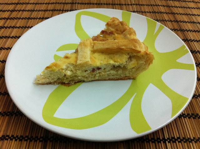 Pastel de puerros y panceta - Torta ai porri e pancetta