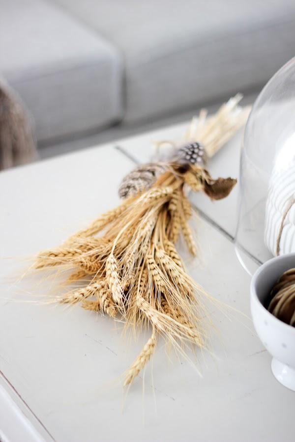 ramo de trigo seco