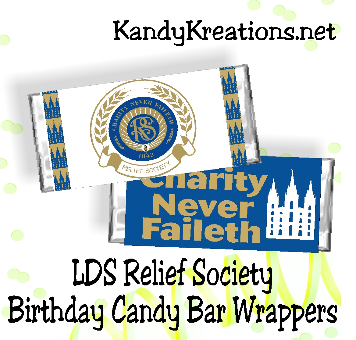 lds relief society birthday candy bar wrappers
