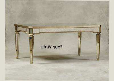 Photo Preview for Mirror Dining Table Antique Design With Elagant Style