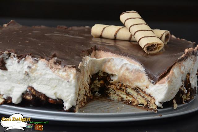 chocolate no bake cake עוגת שוקולד ללא אפייה