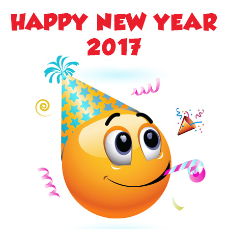 Smiley Happy New Year 2017