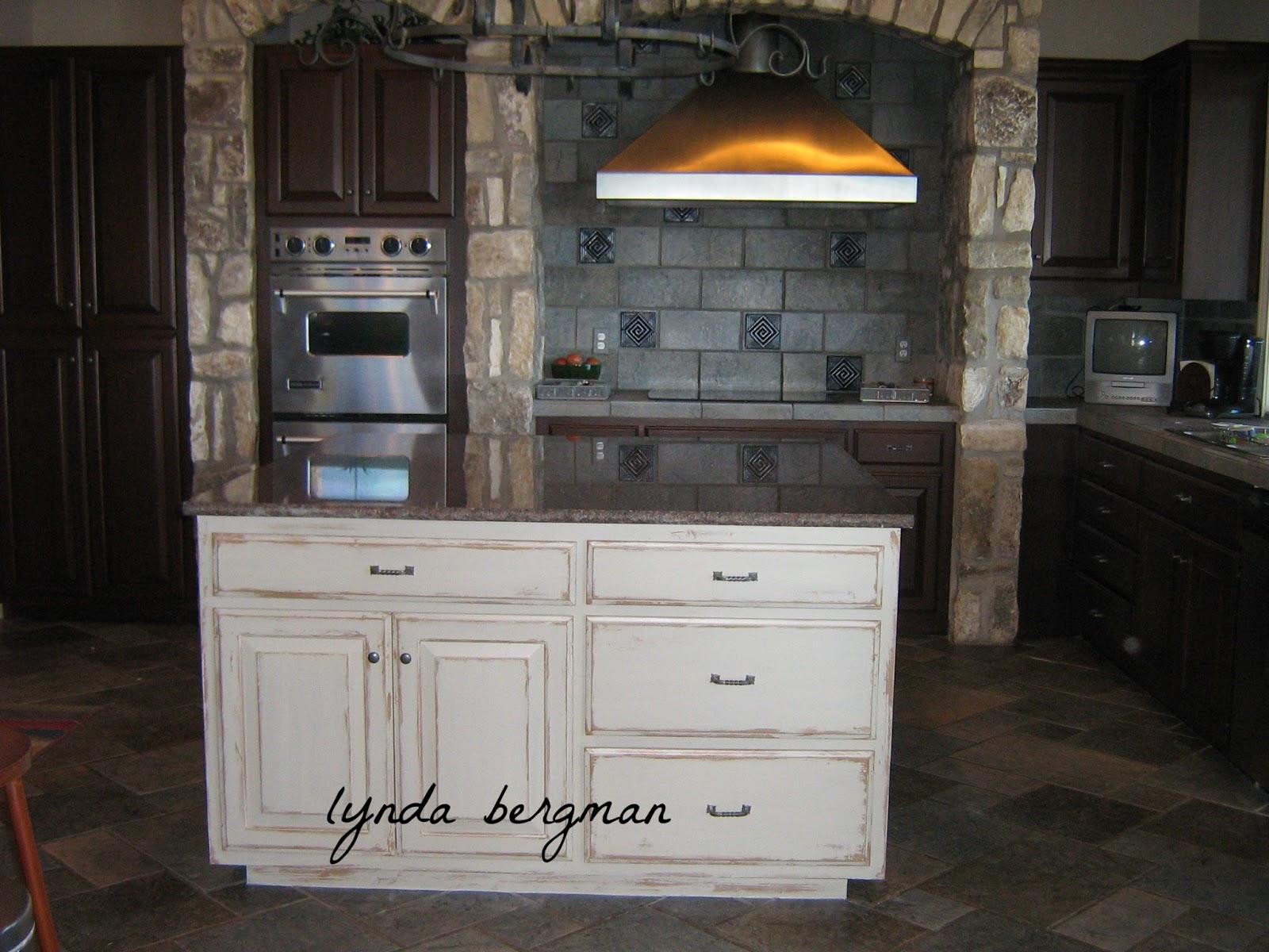 distressed wood kitchen cabinets sink drain size lynda bergman decorative artisan white