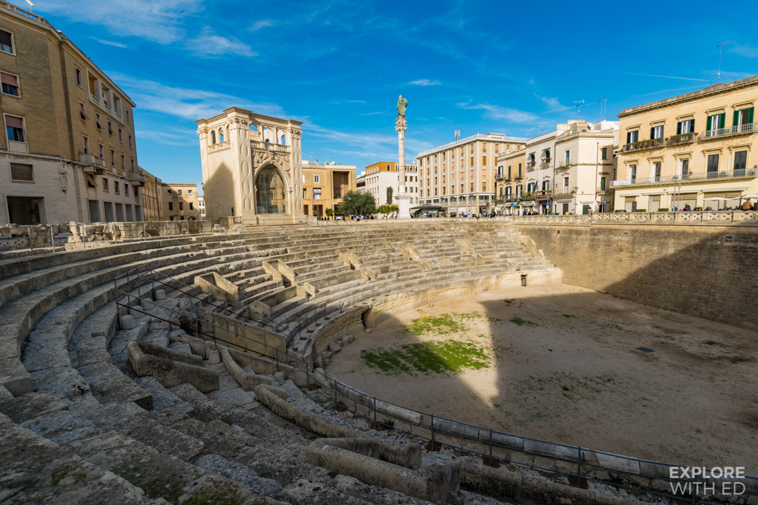 The Roman Amphitheatre in Lecce
