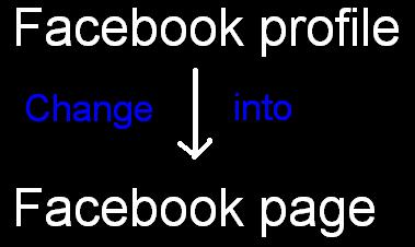 फेसबुक प्रोफाइल को फेसबुक पेज में बदले Facebook profile ko facebook page me badle