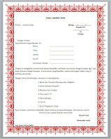 Surat lamaran kerja format MS wor