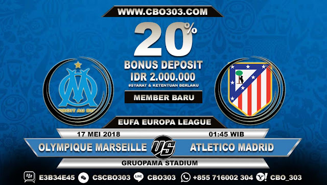 Prediksi Bola Olympique Marseille VS Atletico Madrid 17 Mei 2018