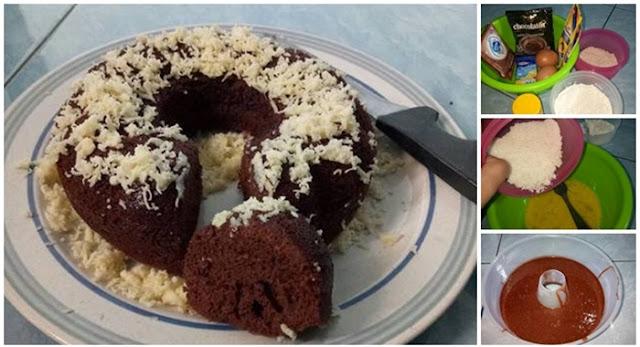 Resep membuat Brownis kukus chocolatos,Buat cemilan enak hanya dengan 2 bungkus Chocolatos