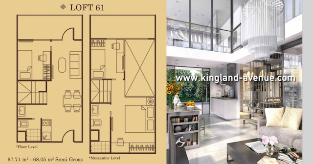 Tipe Loft 61 Apartemen Kingland Avenue Serpong dijual