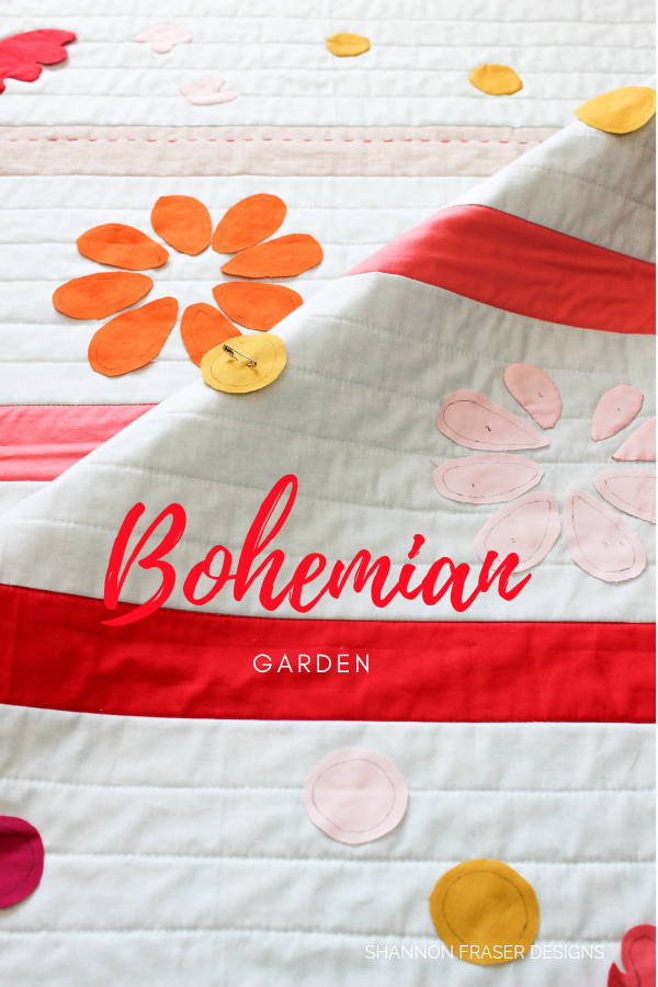 Bohemian Garden baby quilt | Q2 2019 Finish-A-Long Proposed Projects | Shannon Fraser Designs