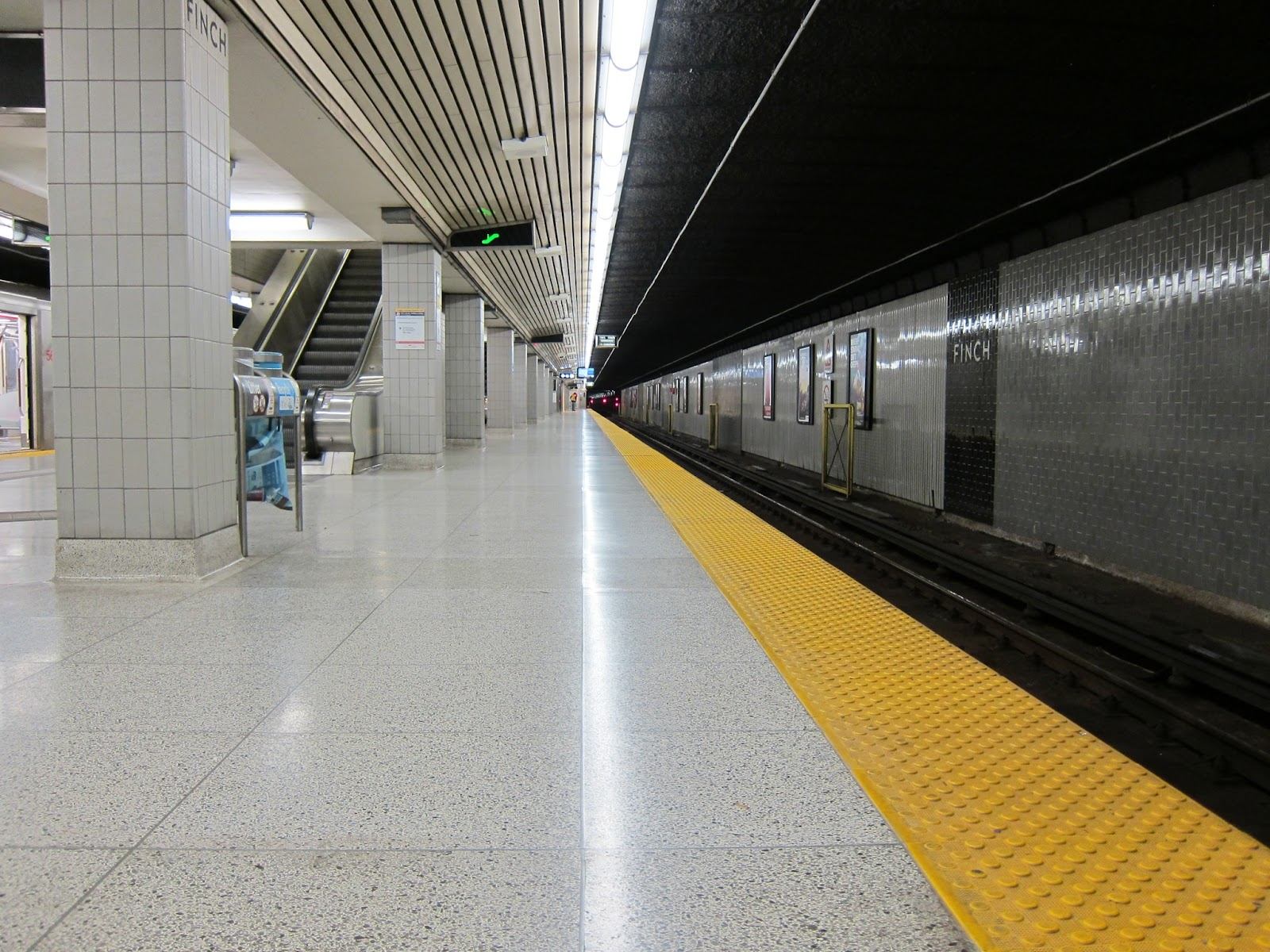 Finch station subway platform