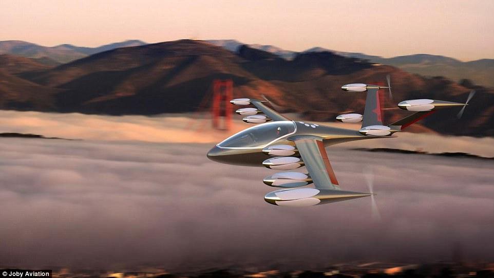 """Este é o táxi voador do futuro? O """"Megadrone"""" elétrico que pode se transformar em um avião no meio do ar ."""