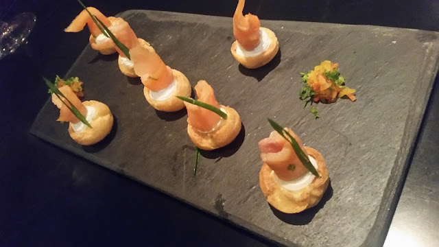 Smoked Salmon in a Choux Pastry