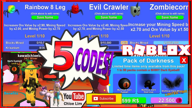 roblox mining simulator gameplay halloween part 23 5 new codes and new