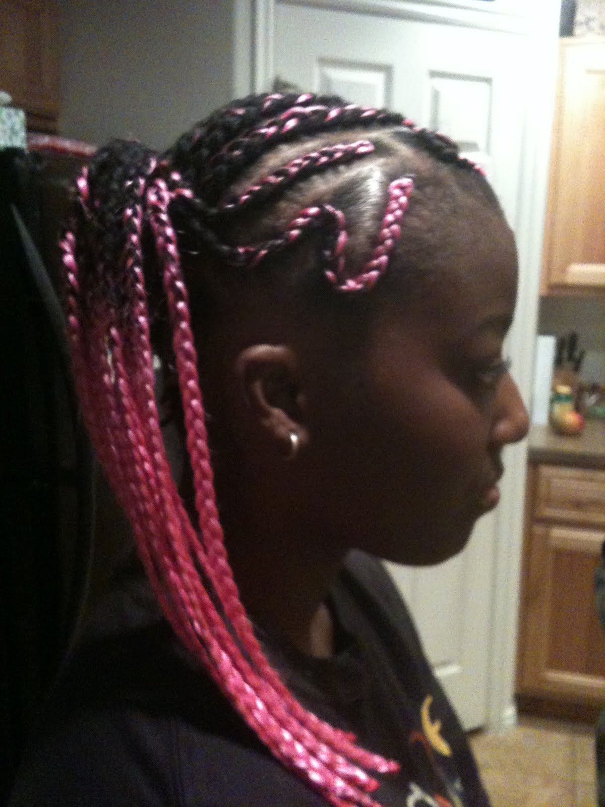 Cornrows Braids Extensions Side Ponytail