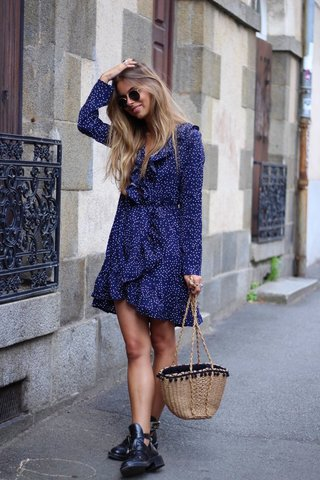 Robe à pois NOT YOUR GIRL SHOP