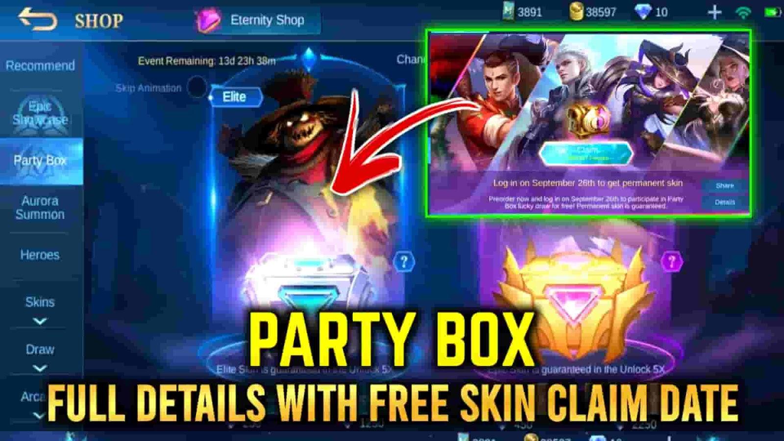 mlbb party box,ml party box draw,party box mlbb,mobile legends party box event
