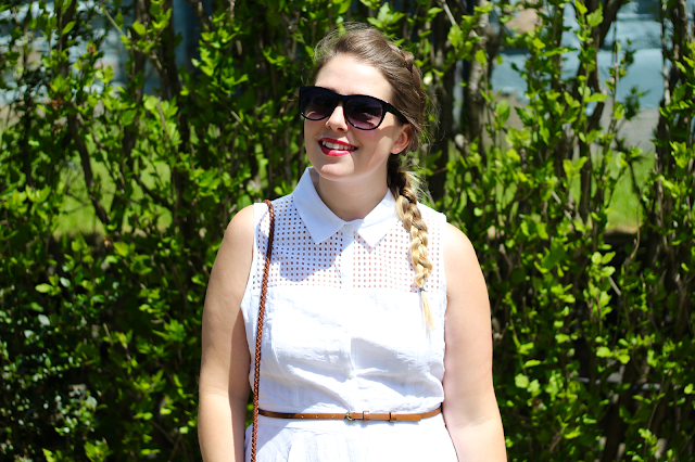 White Eyelet Shirtdress 5