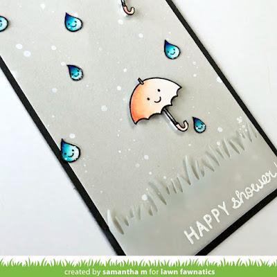 Happy Shower Card by Samantha Mann, Lawn Fawn, Lawn Fawnatics, Baby, Shower, cards, handmade cards #lawnfawn #lawnfawnatics #babyshower #baby #cards