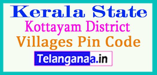 Kottayam District Pin Codes in Kerala State