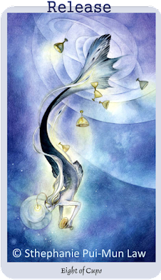 Shadowscapes Tarot, Eight of Cups,Stephanie Pui-Mun Law