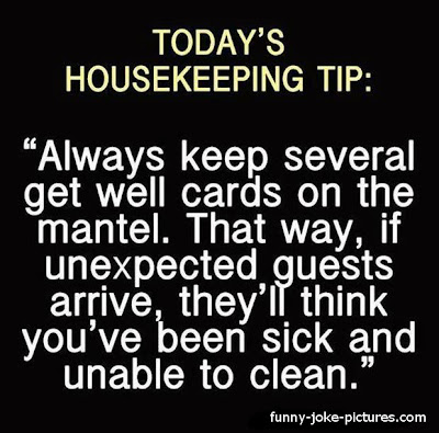 Funny Housekeeping Tip Sign Image