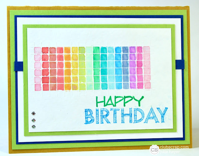 #clubscrap #cards #birthday #blueprints #distressoxides #rainbow #embossresist #sc691