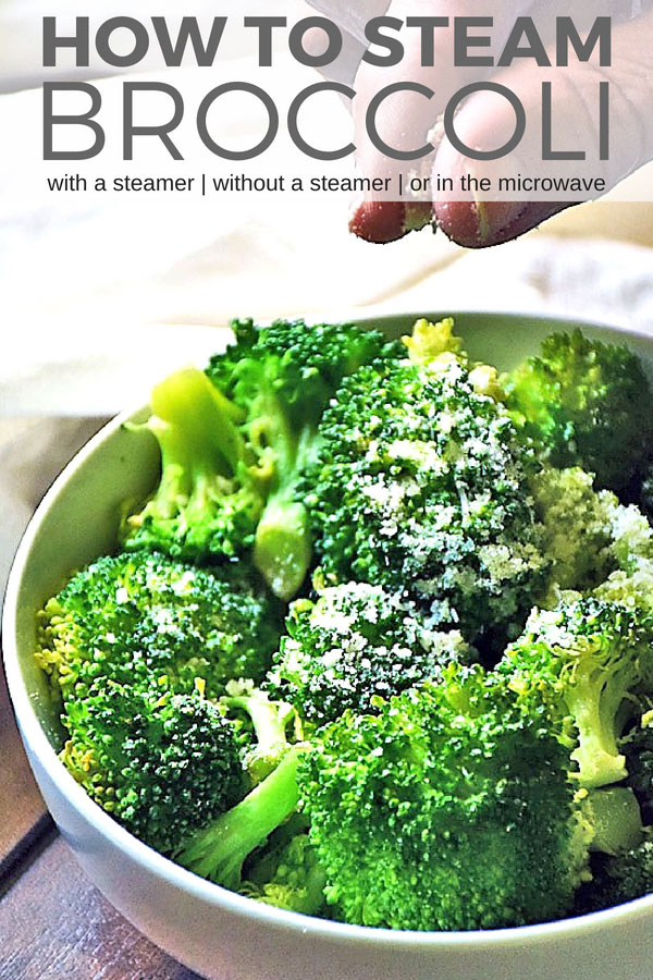 How to steam broccoli perfectly every time. Learn how long to steam broccoli, how to steam broccoli in the microwave, how to steam broccoli with and without a steamer basket too! #LTGrecipes