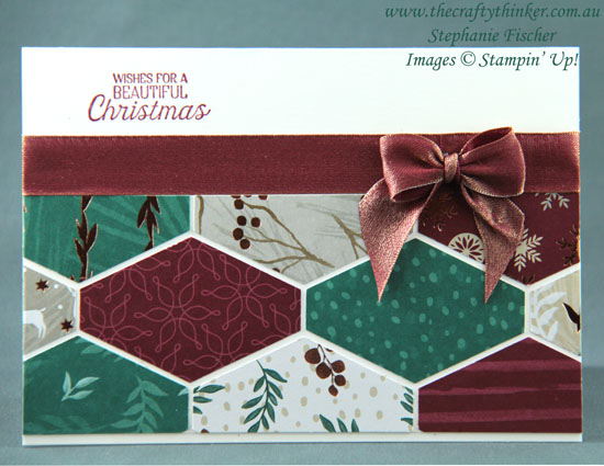 #thecraftythinker  #cardmaking  #christmascard  #stampinup  #crazycraftersbloghop  #tailoredtagpunch , Christmas card, Tailored Tag punch, Joyous Noel DSP, Stampin' Up Australia Demonstrator, Stephanie Fischer, Sydney NSW